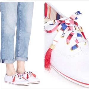 Kate Spade ♠️ x Keds Fiesta Tassel Sneakers Size 9